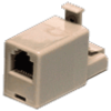 RJ45 Crossover Adapter LAN Cable Converter (Crossed Wire)